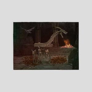 Dark Dungeon 5'x7'Area Rug