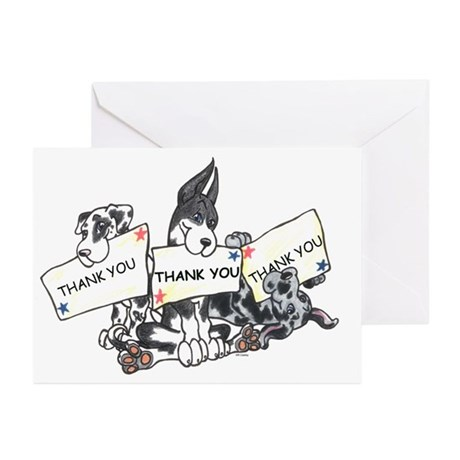 Thank You x 3 Greeting Cards (Pk of 20)