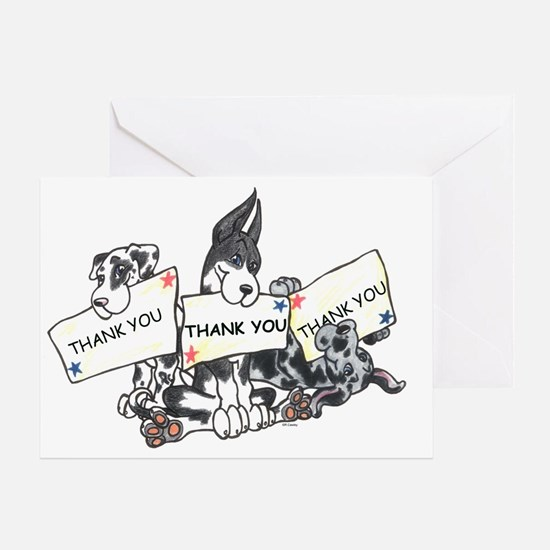 Thank You x 3 Greeting Card