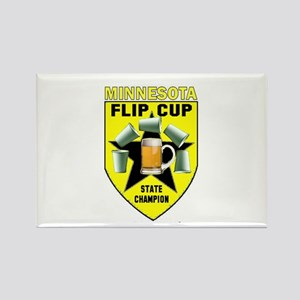 Minnesota Flip Cup State Cham Rectangle Magnet