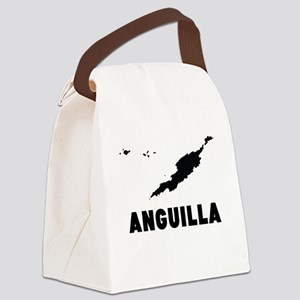 Anguilla Silhouette Canvas Lunch Bag