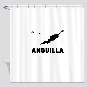 Anguilla Silhouette Shower Curtain