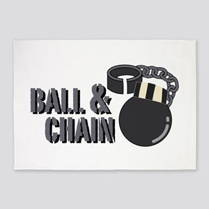 Ball & Chain 5'x7'Area Rug
