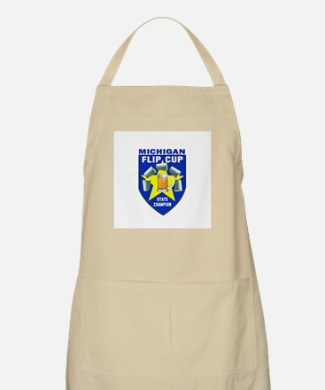 Michigan Flip Cup State Champ BBQ Apron