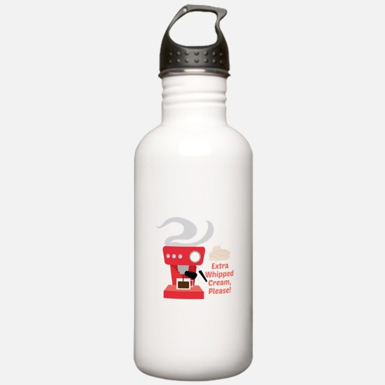 Extra Whipped Cream Water Bottle