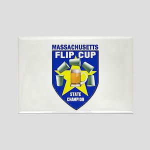 Massachusetts Flip Cup State Rectangle Magnet