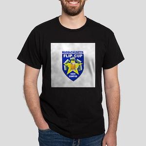 Massachusetts Flip Cup State Dark T-Shirt
