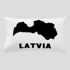 Latvia Silhouette Pillow Case