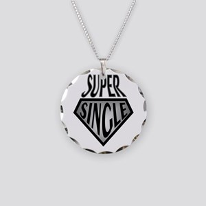 Super Hero Super Single Necklace Circle Charm