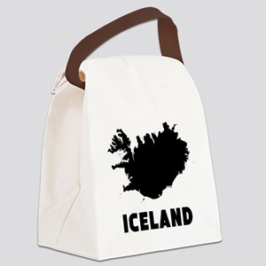 Iceland Silhouette Canvas Lunch Bag