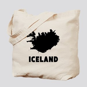 Iceland Silhouette Tote Bag