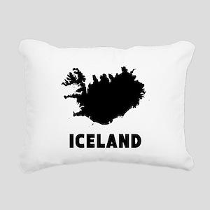 Iceland Silhouette Rectangular Canvas Pillow