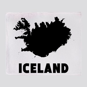 Iceland Silhouette Throw Blanket