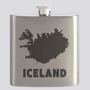 Iceland Silhouette Flask
