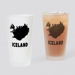 Iceland Silhouette Drinking Glass