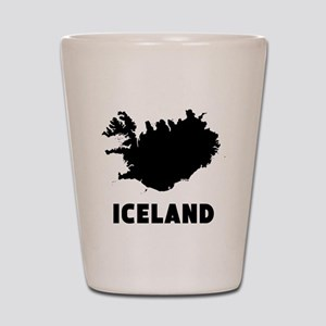 Iceland Silhouette Shot Glass