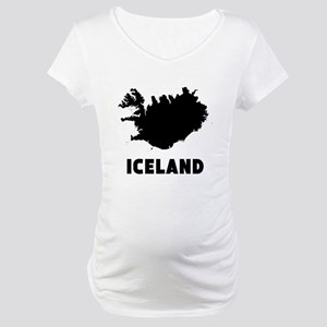 Iceland Silhouette Maternity T-Shirt