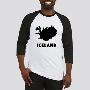 Iceland Silhouette Baseball Jersey