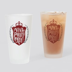 Viva Cristo Rey Shield Drinking Glass
