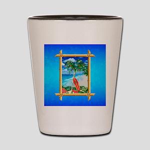 Beach Christmas Ocean Blue Shot Glass