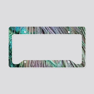 Peacock Feather Eye New Growth License Plate Holde