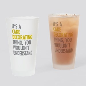 Cake Decorating Drinking Glass
