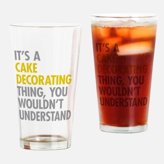 Cake Decorating Drinking Glass
