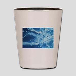 blue art Shot Glass