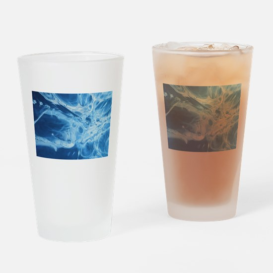 blue art Drinking Glass