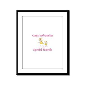 Gianna & Grandma - Friends Framed Panel Print