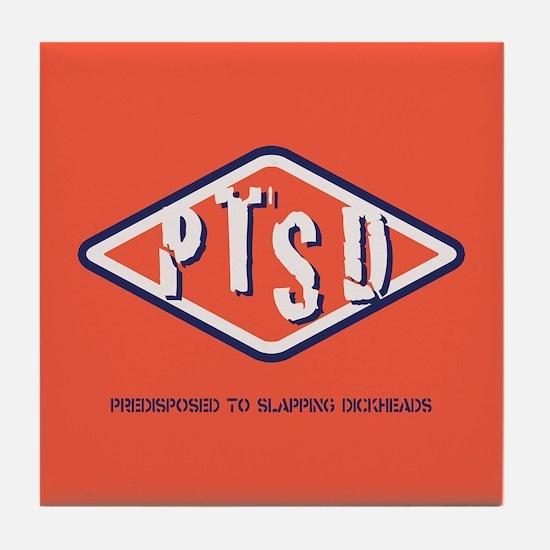PTSD Emblem Tile Coaster