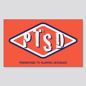 PTSD Emblem Sticker (Rectangle)