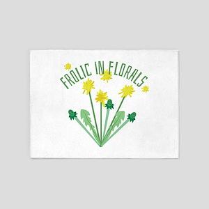 Frolic In Florals 5'x7'Area Rug