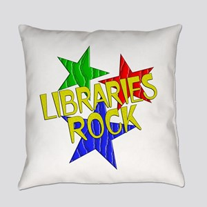 Libraries Rock Everyday Pillow