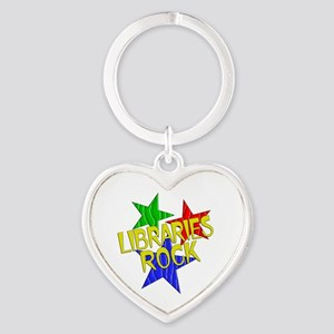 Libraries Rock Heart Keychain