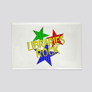 Libraries Rock Rectangle Magnet