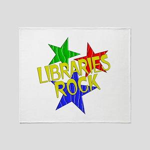 Libraries Rock Throw Blanket