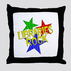 Libraries Rock Throw Pillow