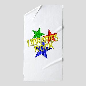 Libraries Rock Beach Towel