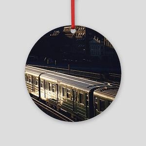 subway train Round Ornament
