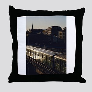 subway train Throw Pillow