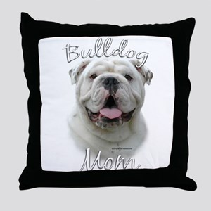 Bulldog Mom2 Throw Pillow