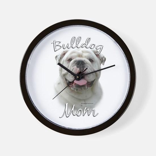 Bulldog Mom2 Wall Clock