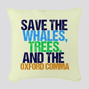 Oxford Comma Woven Throw Pillow