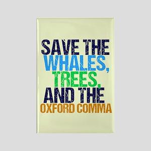 Oxford Comma Humor Rectangle Magnet