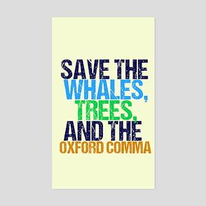 Oxford Comma Humor Sticker (Rectangle)