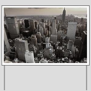 New York Skyscraper Vintage Yard Sign
