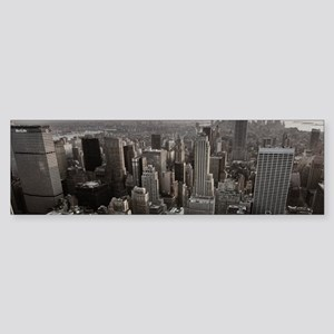 New York Skyscraper Vintage Bumper Sticker