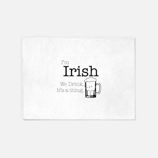Irish We Drink 5'x7'Area Rug