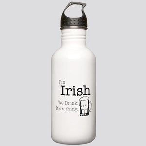 Irish We Drink Water Bottle